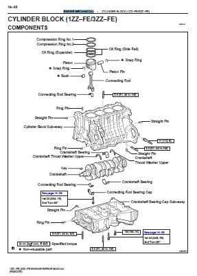 1ZZ–FE, 3ZZ–FE Engine Repair Manual (RM923E)