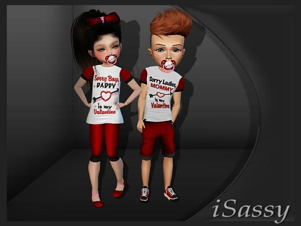Kid Valentines fits - PSD