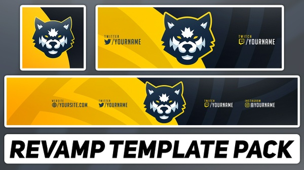 Cartoon Mascot Style Revamp Pack| Free Photoshop Template [Avatar, Banner & Header]