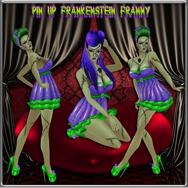 Pinup Frankenstein Franny Collection Catty Only!!!!