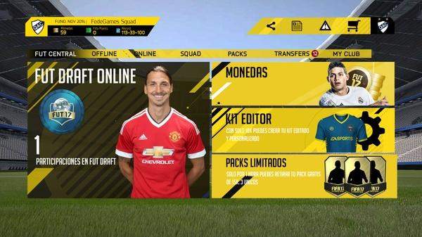 FIFA 17 MENU FULL EDITABLE CONCEPT
