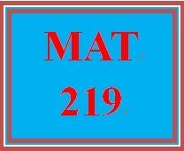 MAT 219 Week 2 participation Graphed Data