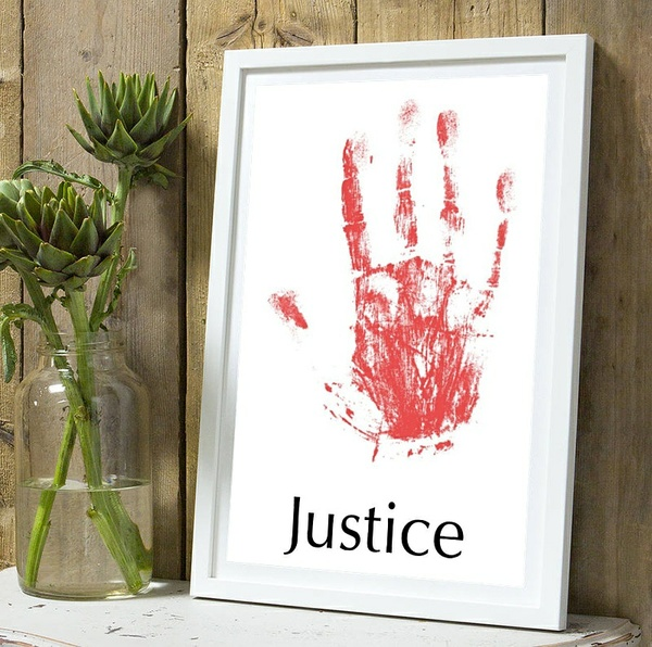 Justice Red Wall Art Print Decor