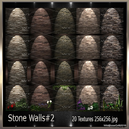 ~ STONE WALLS#2 TEXTURE PACK ~