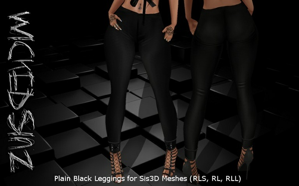 Plain Jane Leggings Texture for Sis3D Meshes ( RLS , RL , RLL )