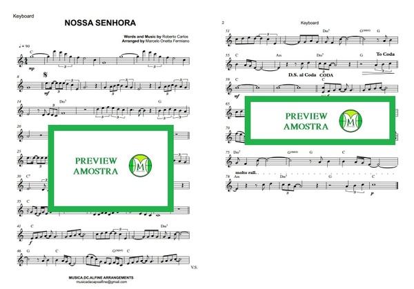 Nossa Senhora - Roberto Carlos - Teclado ou Violino - Partitura