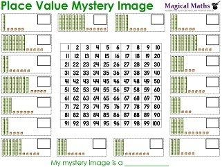 Place Value Mystery Image Worksheet