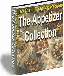 The Appetizer Collection offers 150 authentic, savory recipes for appetizers