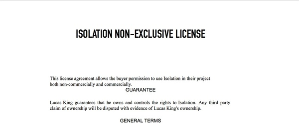 Sad Piano - Isolation License