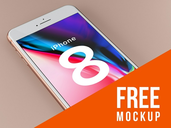 FREE iPhone 8 Design Mockup