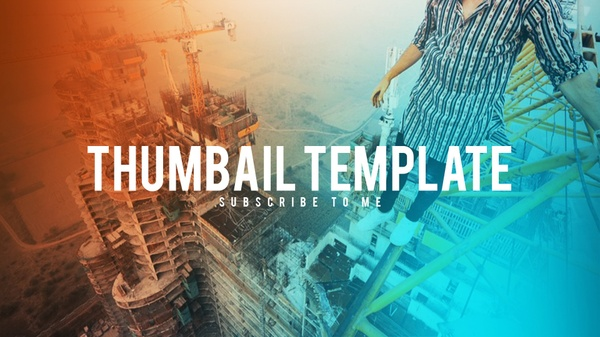 FREE Thumbnail Template | Tech, Gamers, Vlogs | Adobe Photoshop CC 2017