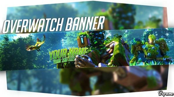 Editable overwatch banner