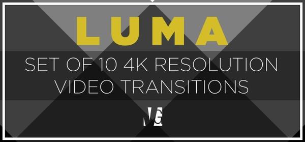 LUMA - 4K Luma Video Transitions