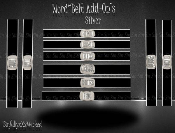Word*Belt Add-On's *Silver*
