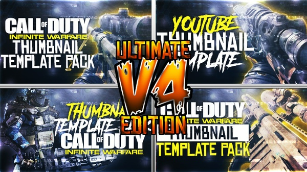 Ultimate Infinite Warfare Thumbnail Template Pack V4