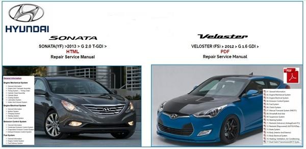 Hyundai Sonata 2013 & Veloster 2O12 Repair Service Manual