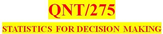 QNT275 Orientation
