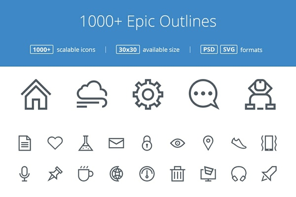 1000+ Epic Outline icons