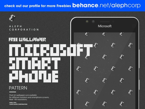Free Microsoft Smartphone Wallpapers - Pixel Art by aleph corporation