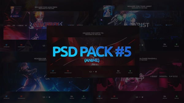 PSD Pack #5 (Anime)