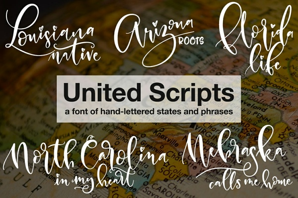 United Scripts: a font of states!