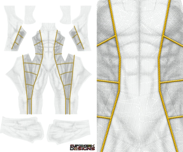 NEW  WHITE RANGER v3 pattern file