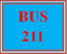 BUS 211 Week 3 Quiz