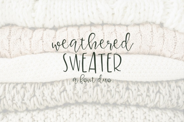 Weathered Sweater - A Font Duo