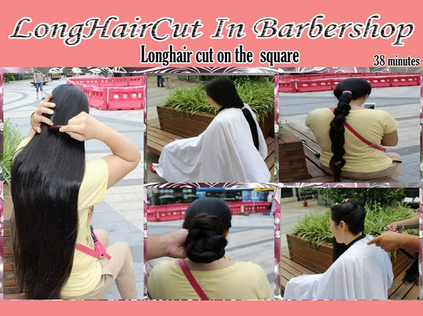 Longhair cut on the square