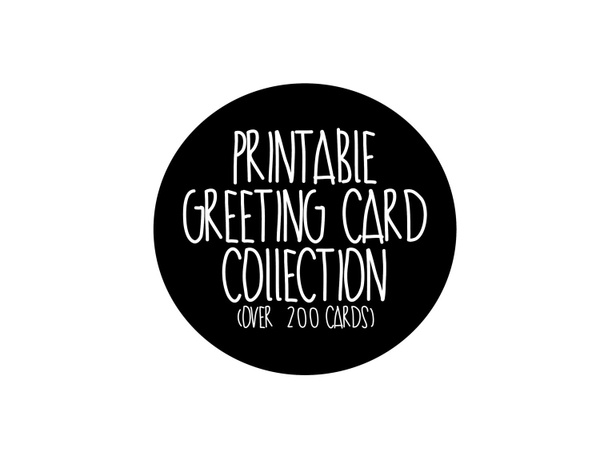 printable digital greeting card collection includes every greeting card in my shop bundle sale