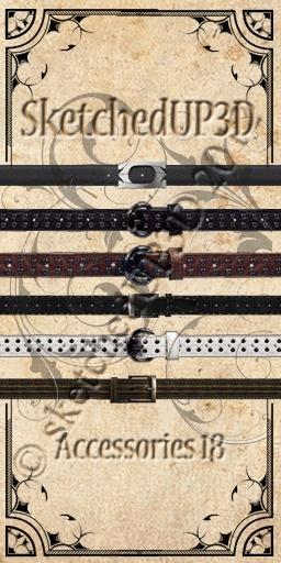 Accessories 18 - Belt Texture Bundle