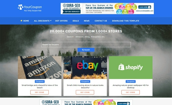 Your Coupon Blogger Template Premium Version