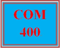 COM 400 Week 2 Media Topic Selection
