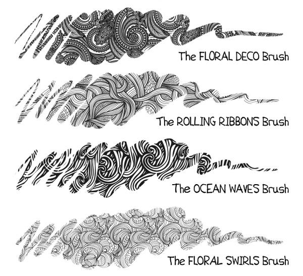 19+ FREE Pattern Brush Set for Procreate incl. Animal Fur & Deco Brushes