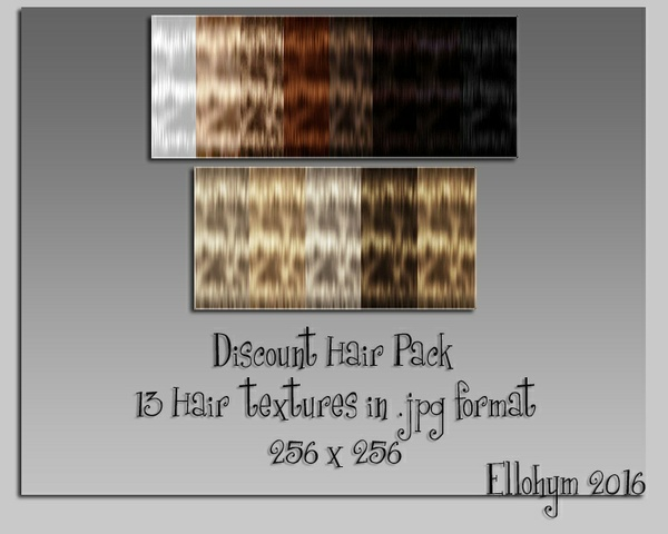Ellohym - Discount Hair Pack 1 - 13 Textures