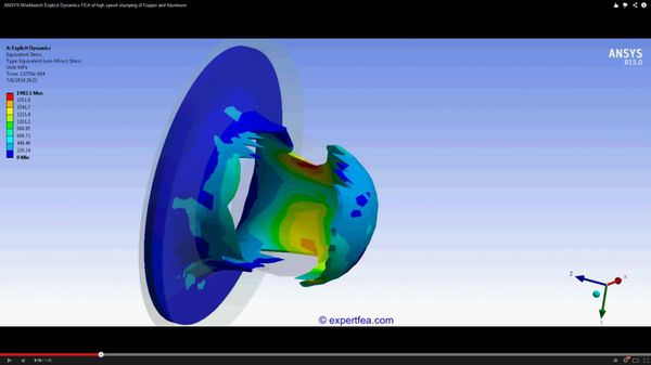 ANSYS Workbench MECHDAT file and 3D model for high speed stamping