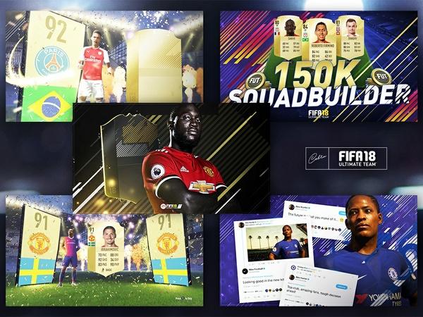 Thumbnail Bundle | 5x FIFA 18 Editable Thumbnails