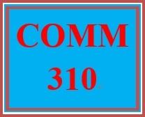 COMM 310 Week 1 Communicating Effectively Worksheet