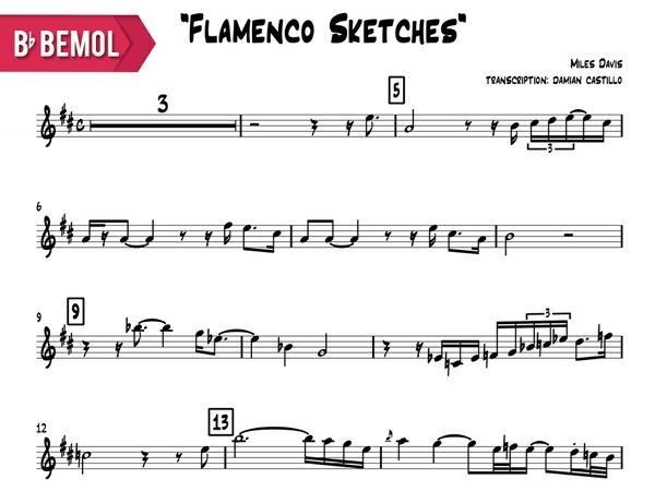 "Miles Davis - ""Flamenco Sketcches"" - Bb"