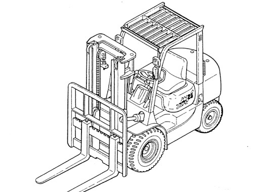 Mitsubishi FG10N - FG35AN / FD10N - FD35AN Forklift Trucks Service Repair Manual Download