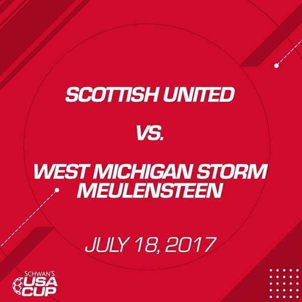 Girls U16 Gold - July 18, 2017 - Scottish United 2001 vs West Michigan Storm