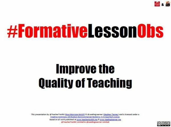 #FormativeLessonObs by @LeadingLearner & @TeacherToolkit