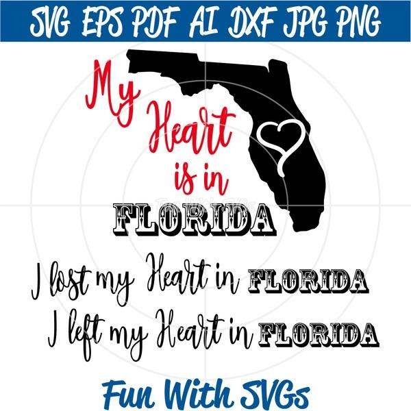 Florida SVG, Hurricane Irma, SVG Files, My Heart is in Florida, Hurricane Irma SVGs
