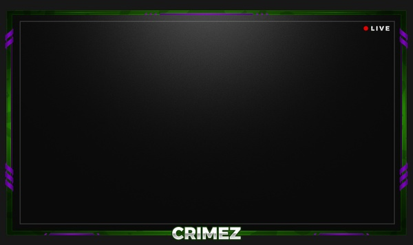 #13 Stream Twitch Cam Overlay inkl. (3 Styles - Yellow - Red - HULK)
