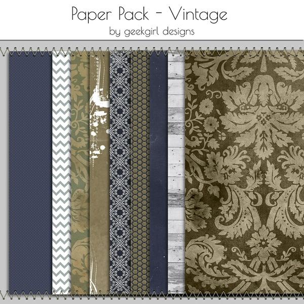 Vintage Paper Pack by geekgirl design