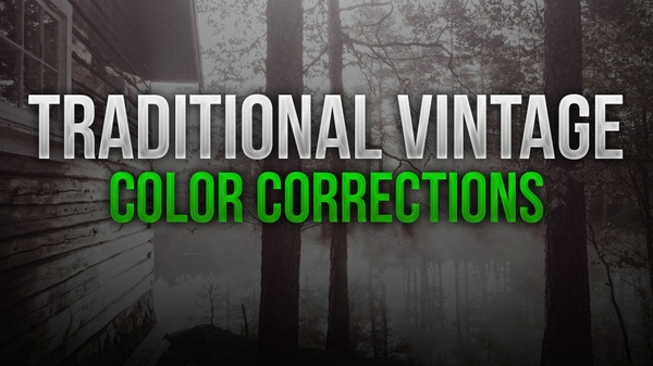 """Traditional Vintage """"Aged"""" Photoshop Color Correction Pack"""