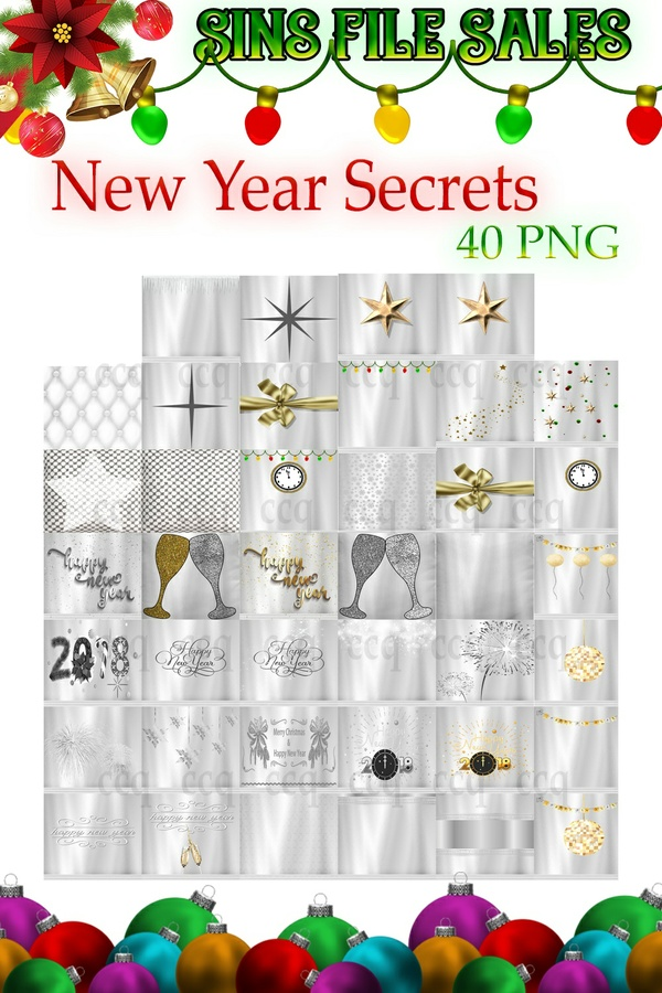 New Year Secrets Textures * 40 Png