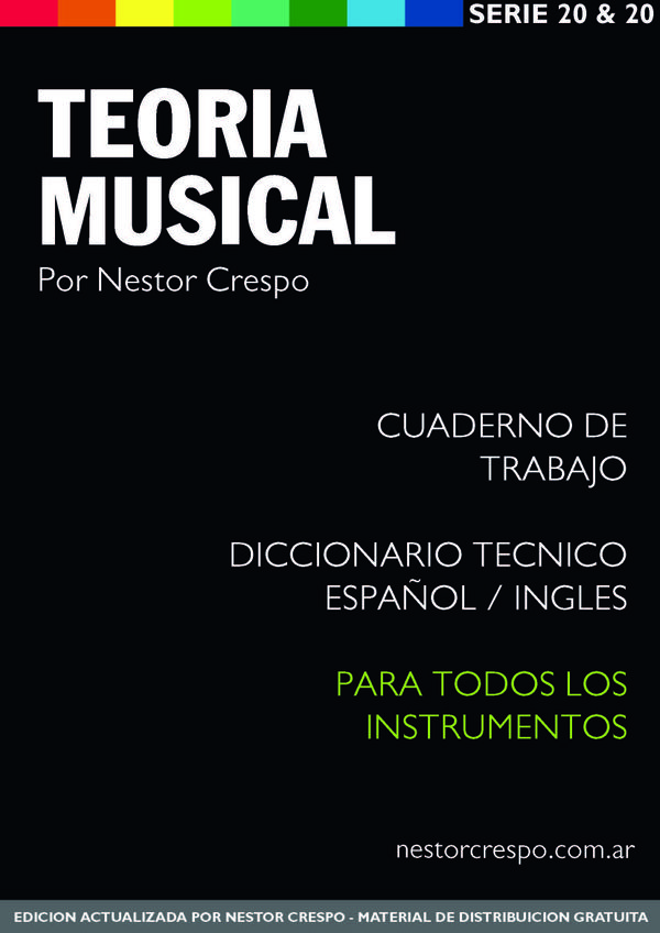 TEORÍA / GRATIS - DONACION -  Libro de Teoría Musical