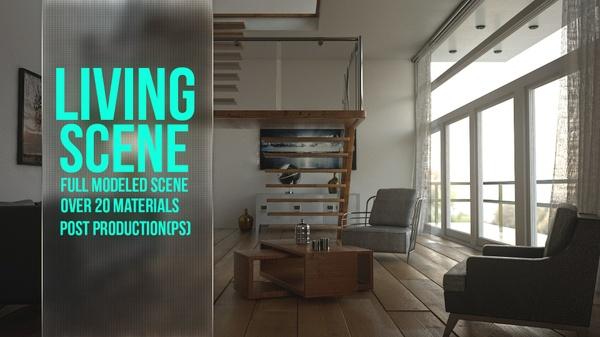 Livingroom Scene -Vray-
