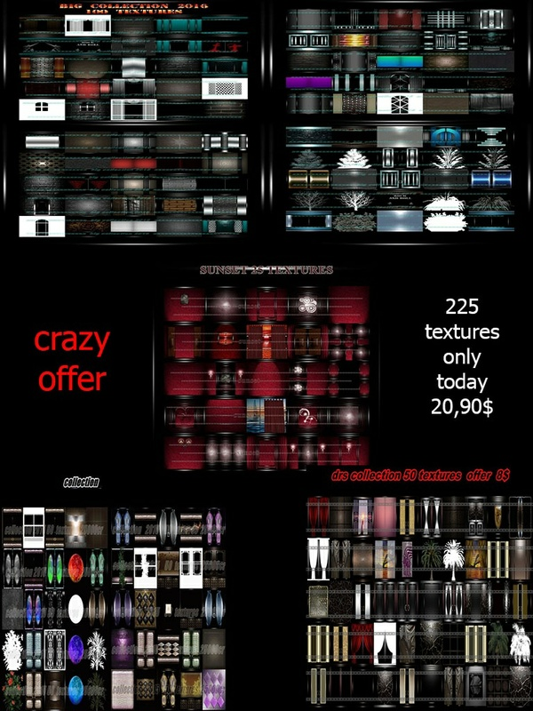 225 textures only today 20,90$ crazy offer